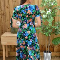 Chi Chi Ulia Floral Dress Black Multi