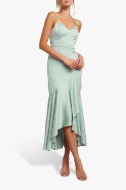 Forever New Hazel Wrap Dress Pale Sage
