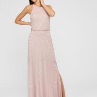 Monsoon Britta Sustainable Embellished Occasion Dress Pink Blush