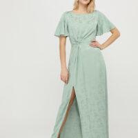 Monsoon Ellinor Satin Jacquard Maxi Dress Green