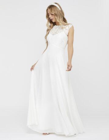 Monsoon Lilian Bridal Lace Maxi Dress Ivory