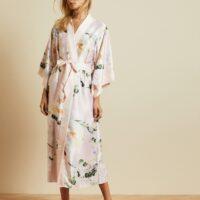 Ted Baker FLOTII Elegant kimono gown Pink Multi Blush