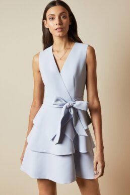 Ted Baker REINAH Tiered sleeveless dress Light Blue