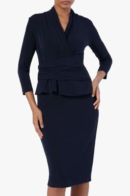 The Fold Arlington Dress Navy