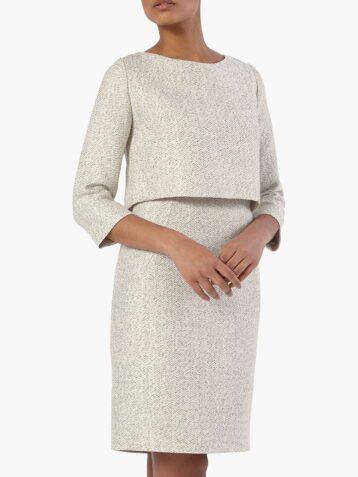 The Fold Northcote Tweed Dress White
