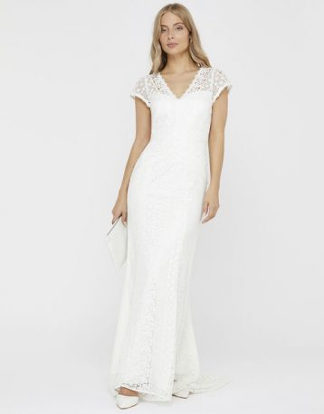 Monsoon Nellie Bridal Lace Maxi Dress Ivory