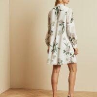 Ted Baker LEYORA Elderflower print smock dress White Green