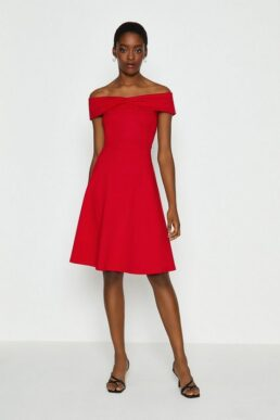 Coast Bardot Skater Dress Red
