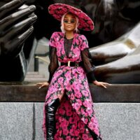 Coast Short Sleeve Wrap Print Maxi Dress Pink Multi
