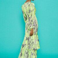 Coast V-Neck Tiered Hem Maxi Dress Green Multi