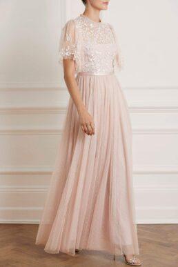 Needle & Thread Honesty Bodice Maxi Dress Pink Blush