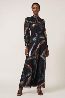 Phase Eight Kaylani Silk Jacquard Dress Black Multi