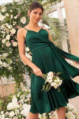 Chi Chi Rakel Short Bridesmaid Dress Green