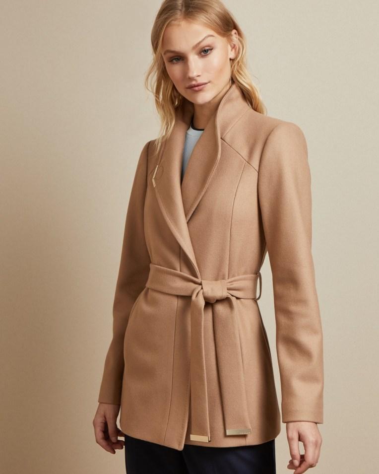DRYTAA Short belted wool wrap coat £289 £167