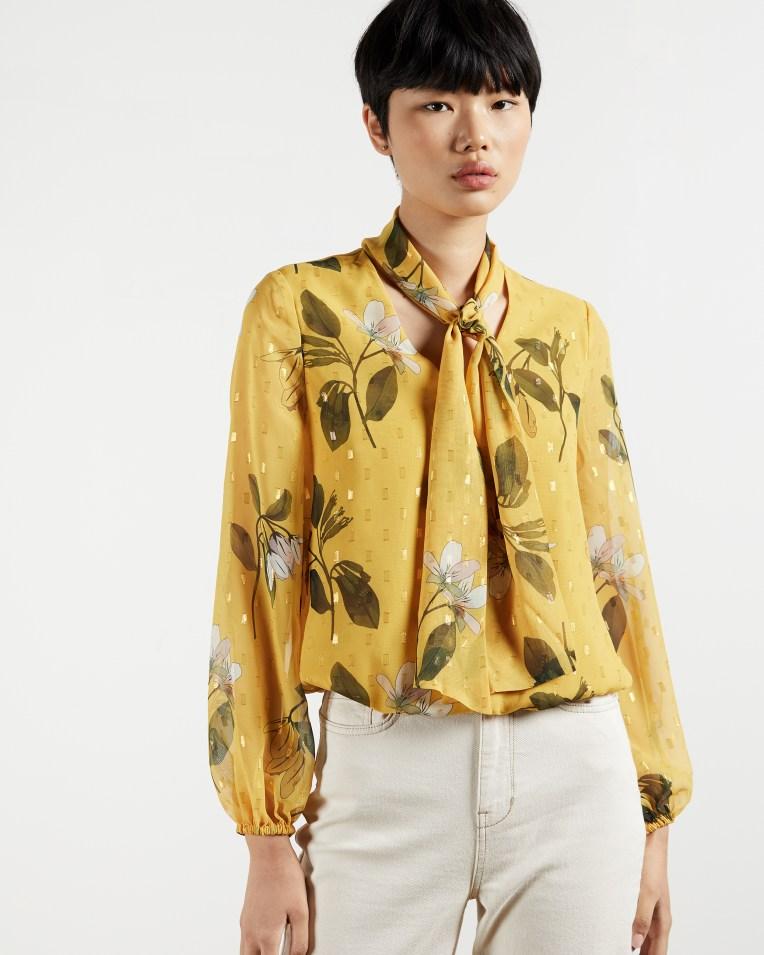 Daniica Savanna printed tie neck blouse, £119 > now £83
