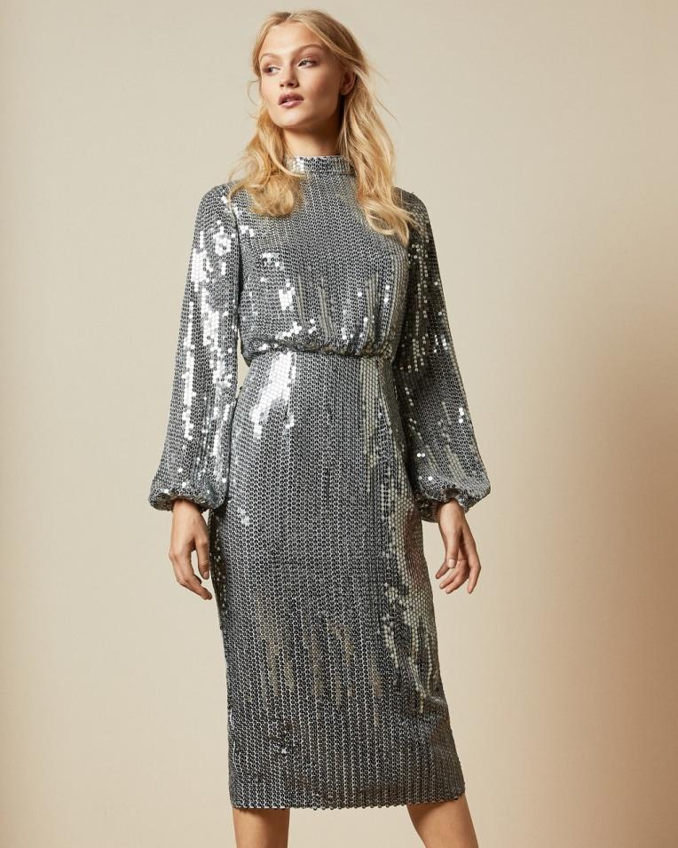 Ophllia Long sleeved sequin mini dress