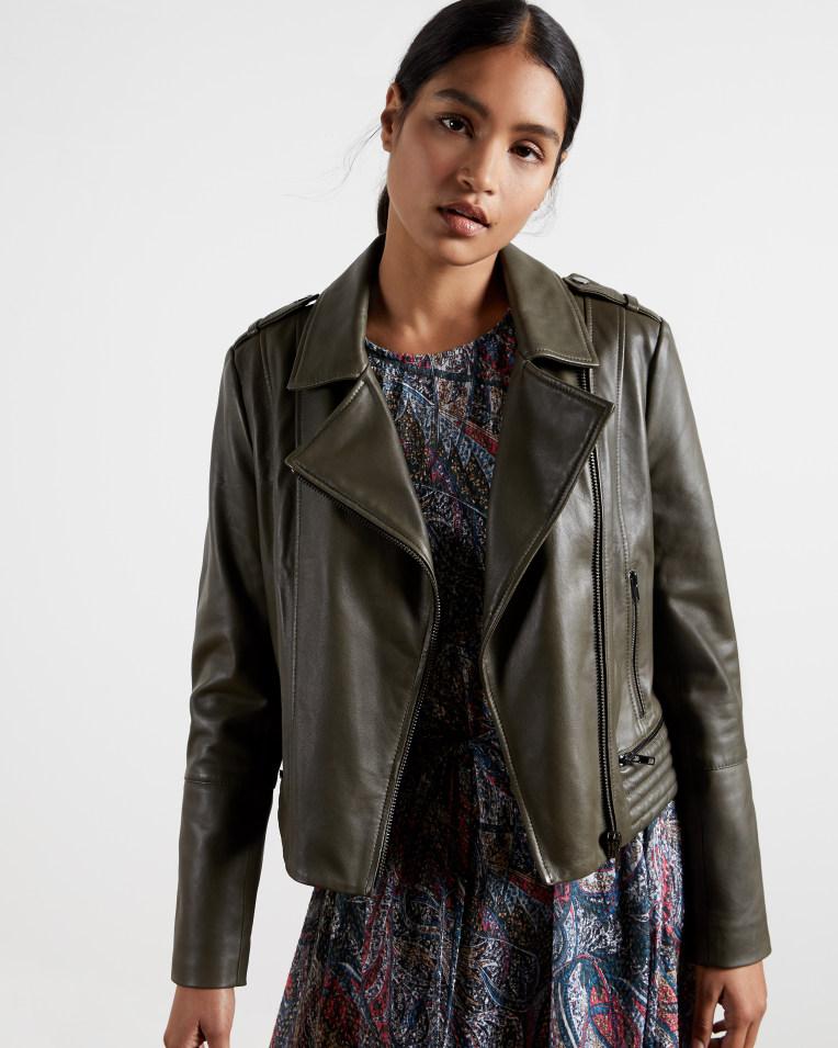 Idda Zip leather biker jacket, was £329 > now £230