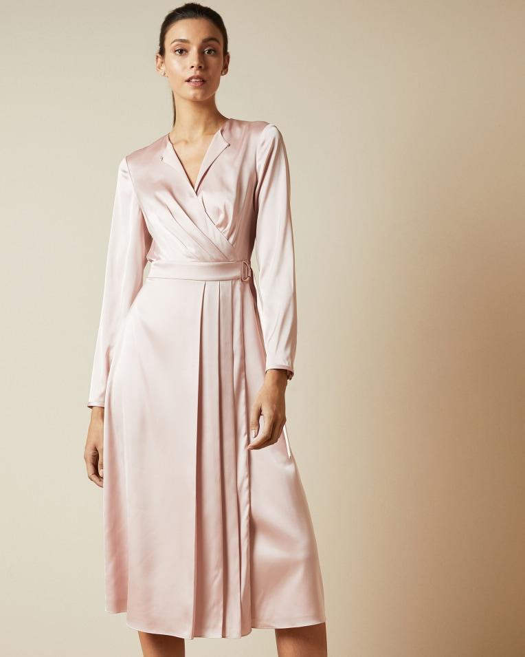 NEENHA Side wrap pleated dress £199 £99