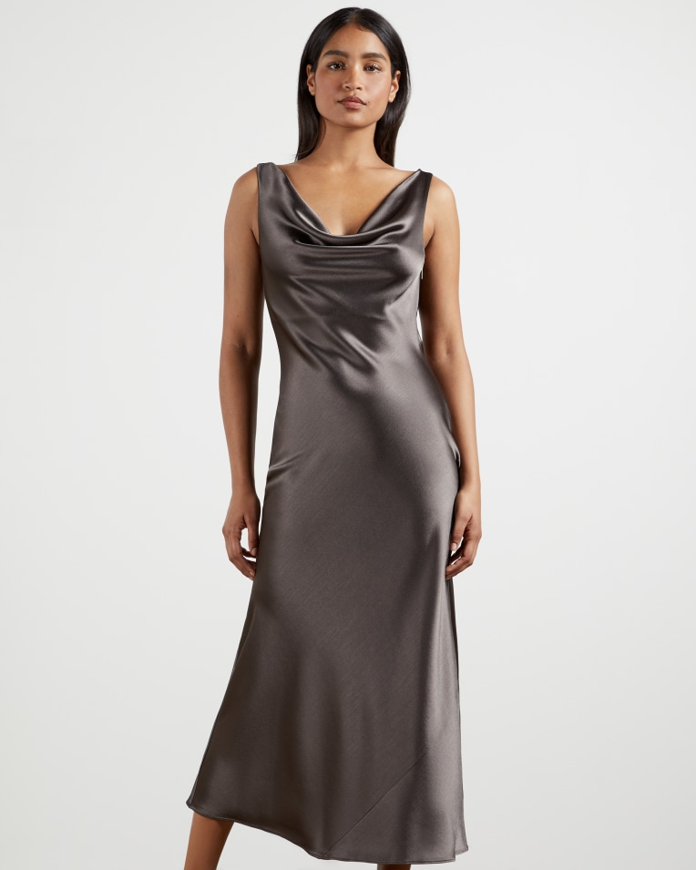 KINSEYY Cowl neck midi slip dress £179 £89