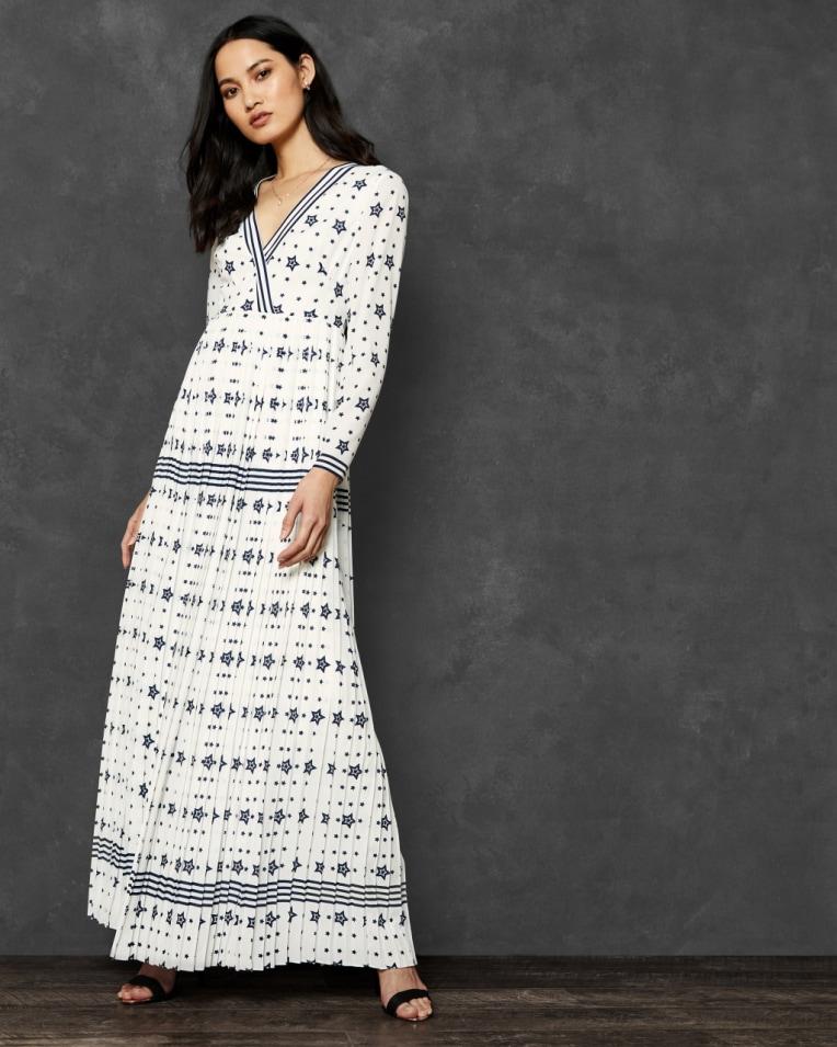 VERIITI Stars and Stripes long sleeve maxi dress £279 £162