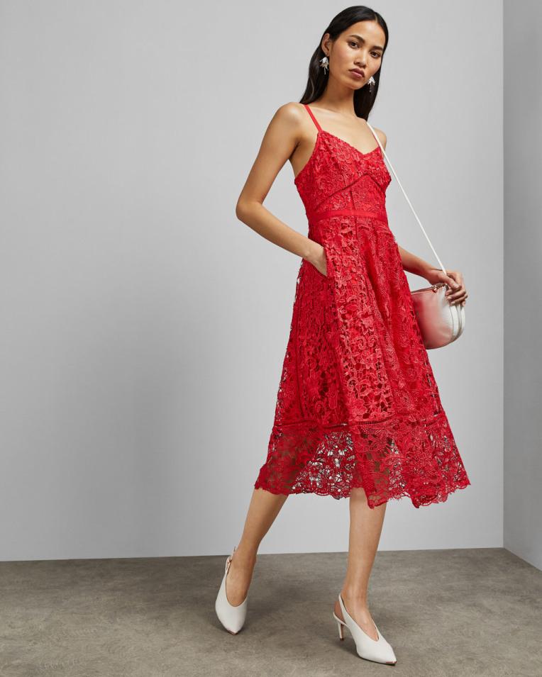 VALENS Mixed lace midi dress £299 £161