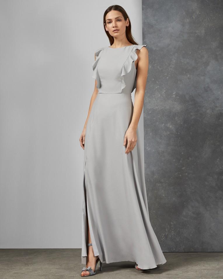 ARDENIA Waterfall ruffle maxi dress