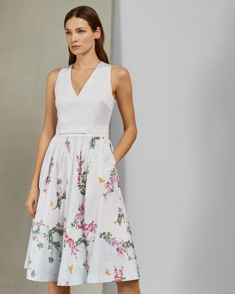 REYYNE Full skirted cotton dress £199 £107