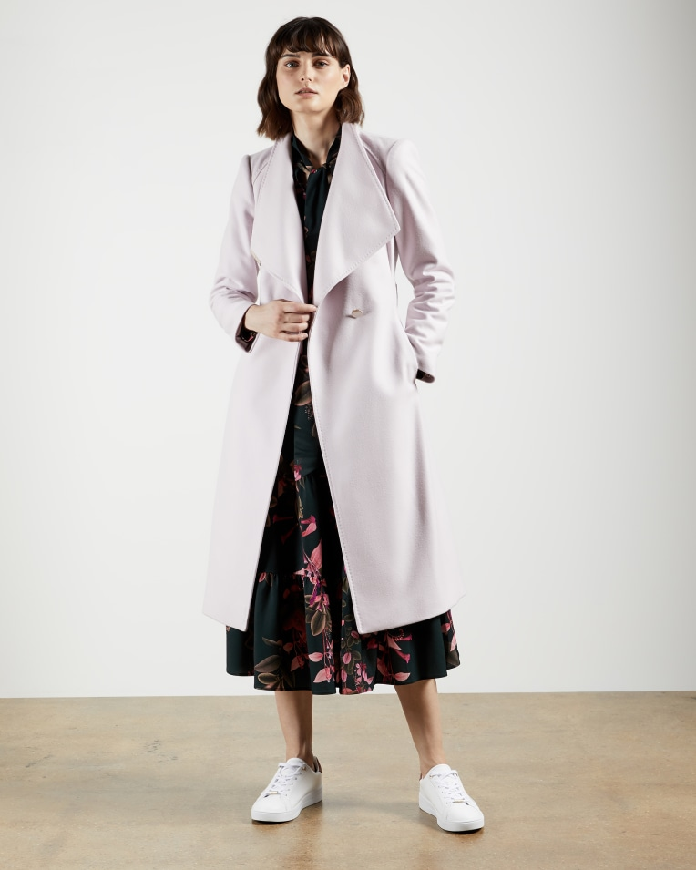 ROSE Wool wrap coat
