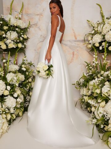 Chi Chi Bridal Jenna Dress White