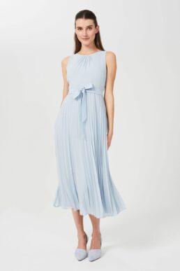 Hobbs Blythe Fit And Flare Midi Dress Light Blue