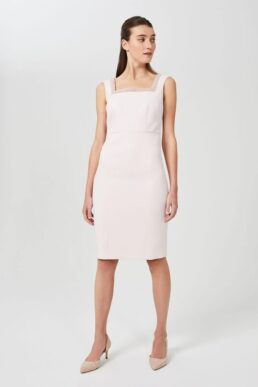 Hobbs Miranda Shift Beaded Dress Light Pink Blush