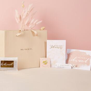 Will You Be My Bridesmaid Gift Bag Set