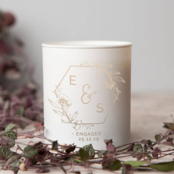 Floral Engagement Gift Candle