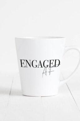 Team Hen Engaged Af Latte Mug