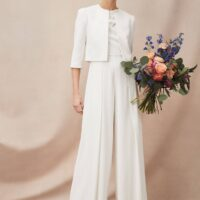 Phase Eight Maeve Frill Detail Jumpsuit Ivory