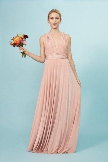 Coast Multiway Jersey Maxi Dress Light Pink Blush