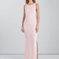 Whistles Tie Back Maxi Dress Ivory