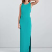 Whistles Tie Back Maxi Dress Turquoise Blue