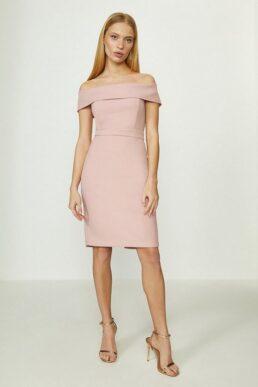 Coast Bardot Mini Shift Dress Blush Pale Pink