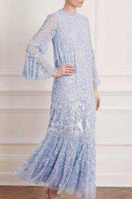 Needle & Thread Snowdrop Sequin Gown Light Blue