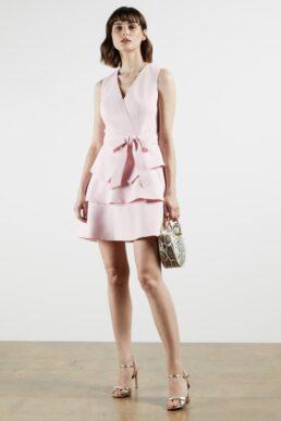 Ted Baker REINAH Tiered sleeveless dress Light Pink Blush
