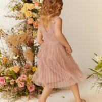 Coast Girls Sequin Pleated Skirt Bridesmaids Dress Blush
