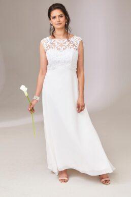 Joanna Hope Embroidered Wedding Dress White