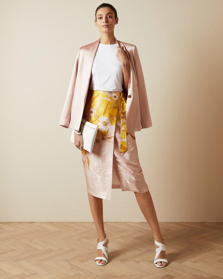 HESPER Cabana printed wrap skirt