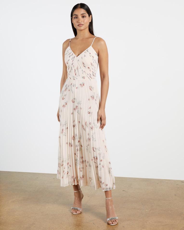 IANTHE Pleated midi dress