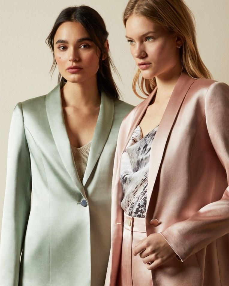 JELISAA Satin tailored jacket