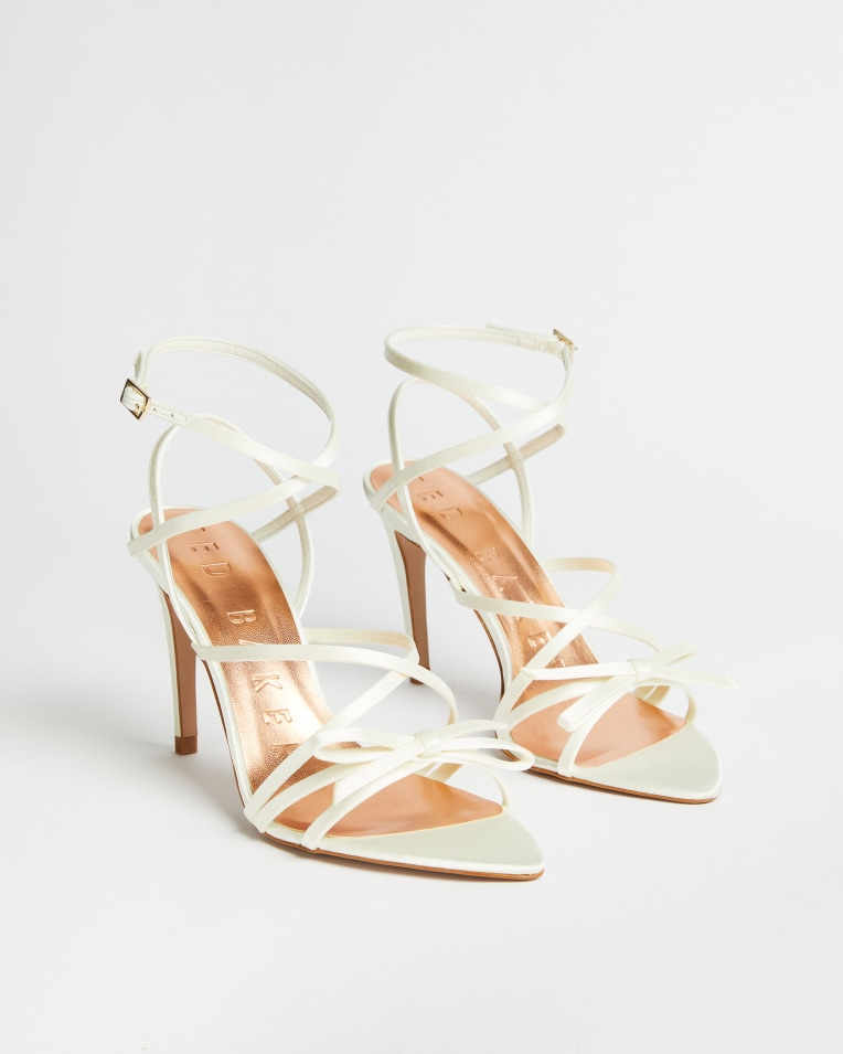 RELANAS Satin strappy heeled sandal