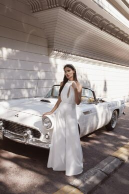 Rowley Hesselballe Reinaa Bridal Jumpsuit White