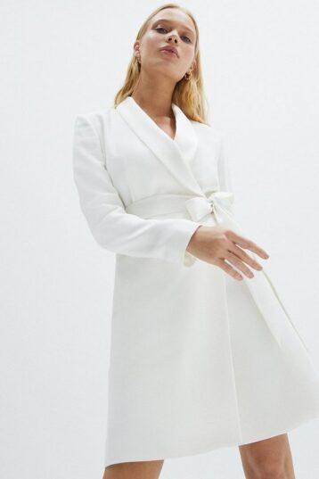 Coast Premium Mini Short Tuxedo Bridal Dress White