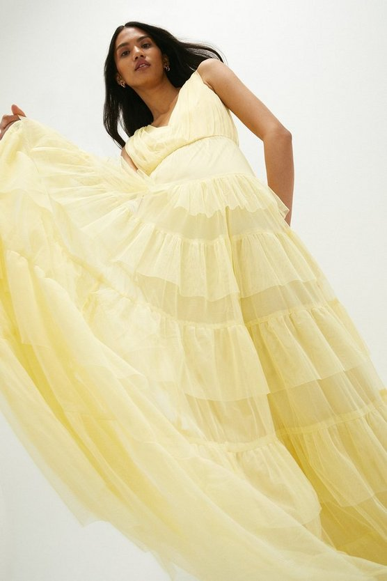 Tulle Tiered Maxi Dress